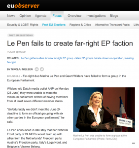 Marine Le Pen fails to form the far-right European Alliance for Freedom