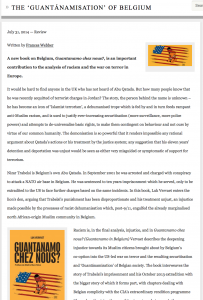 Institute of Race Relations: The 'Guantánamization' of Belgium