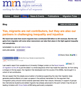 Migrants' Rights Network: Yes, migrants are net contributors, but they are also our partners in challenging inequality and injustice