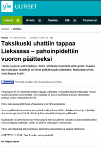 Lieksa, Finland: Migrant taxi driver assaulted by client
