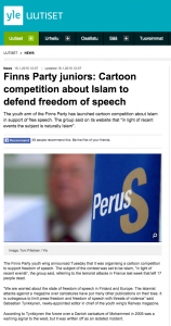 PS youth league's anti-Islam cartoon contest is all about Islamophobia in Finland