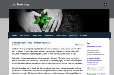 Jan Holmberg (Mainio -blogi): Ulkomaalaisena töissä – omassa maassaan
