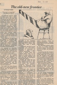 Buenos Aires Herald (February 12, 1987): The old-new frontier*