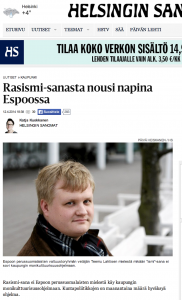 Lahtinen and the PS of Espoo don't like the term racism