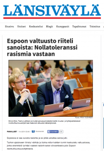 Espoo city council votes against racism