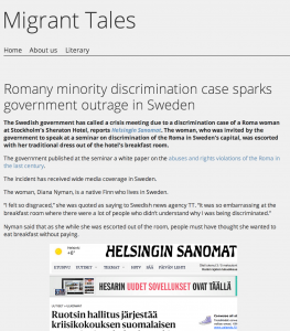 Sweden's white paper on the abuses and rights violations against the Roma will have a positive effect on Finland