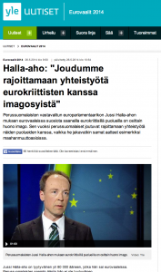 Disingenuous Finnish PS MEP-elect Jussi Halla-aho fears image would suffer with parties like far-right National Front
