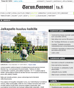 Racism, children and football in Finland