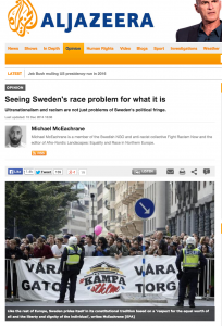 Michael McEachrane: Seeing Sweden's race problem for what it is