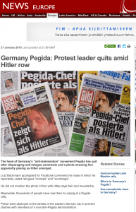 German Pegida movement leader quits after posing as Hitler