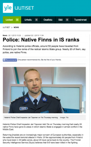 "Around 40% of Finns that have gone to fight for the Islamic State are ""native white Finns"""